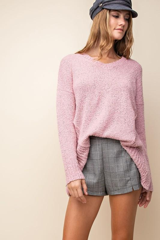 Ella Cozy Sweater - Mauve - Strong Confident You