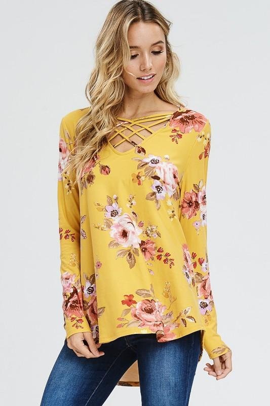 Juliette Floral Top - Yellow