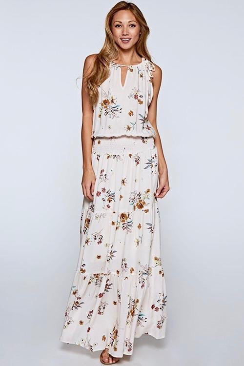 Harper Maxi Dress - Almond - Strong Confident You