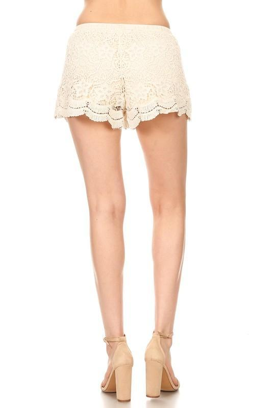 Crochet Scaloped Lace Shorts Strong Confident You