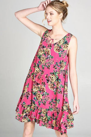 Caterina Pink Floral Dress - women's boutique clothing Strong Confident You