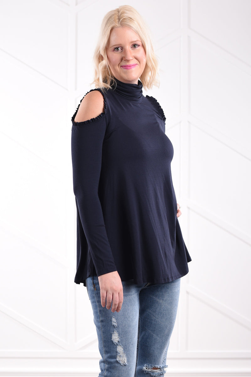 Kathleen Cold Shoulder Top - women's boutique clothing Strong Confident You