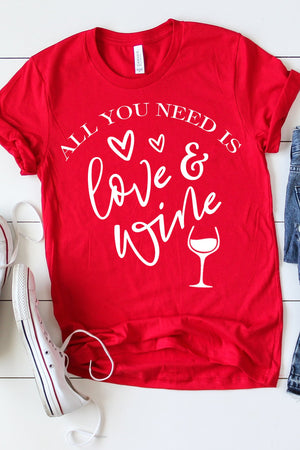 All You Need Is Love And Wine - women's boutique clothing Strong Confident You