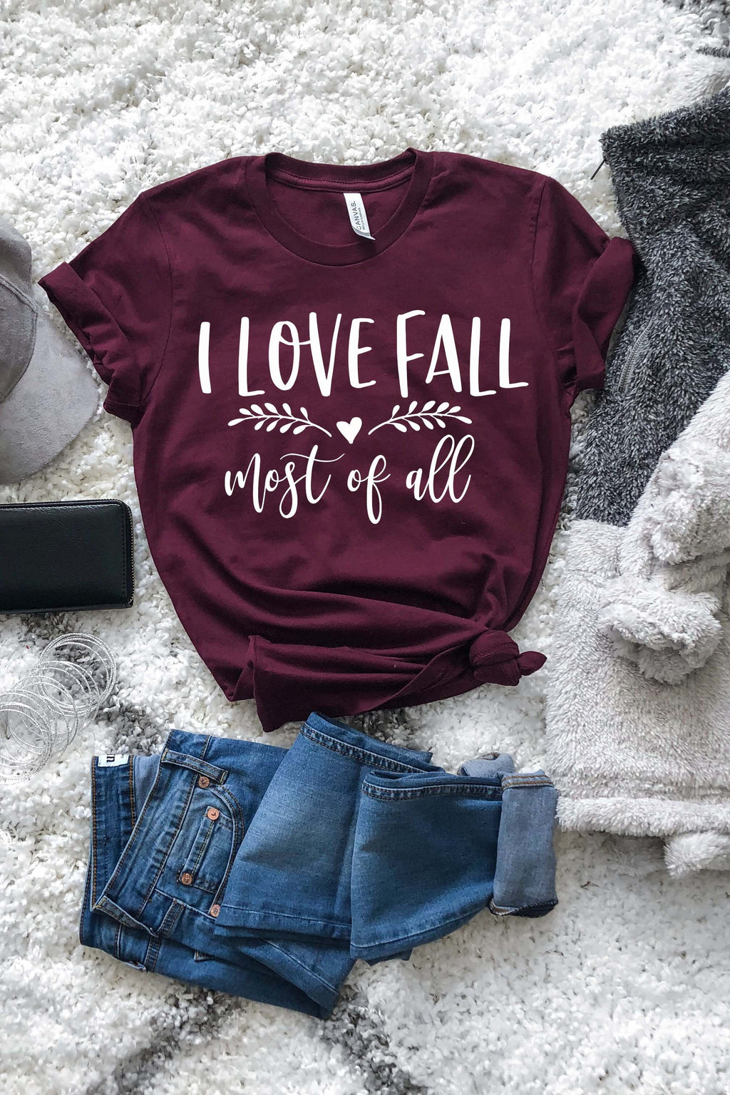 I Love Fall Most Of All Tee - women's boutique clothing Strong Confident You