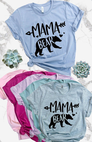 Mama Bear Tee - women's boutique clothing Strong Confident You