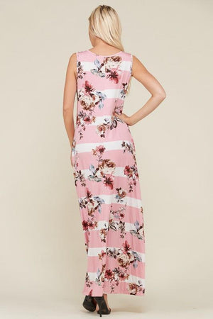 Sophia Pink Maxi Dress - Strong Confident You