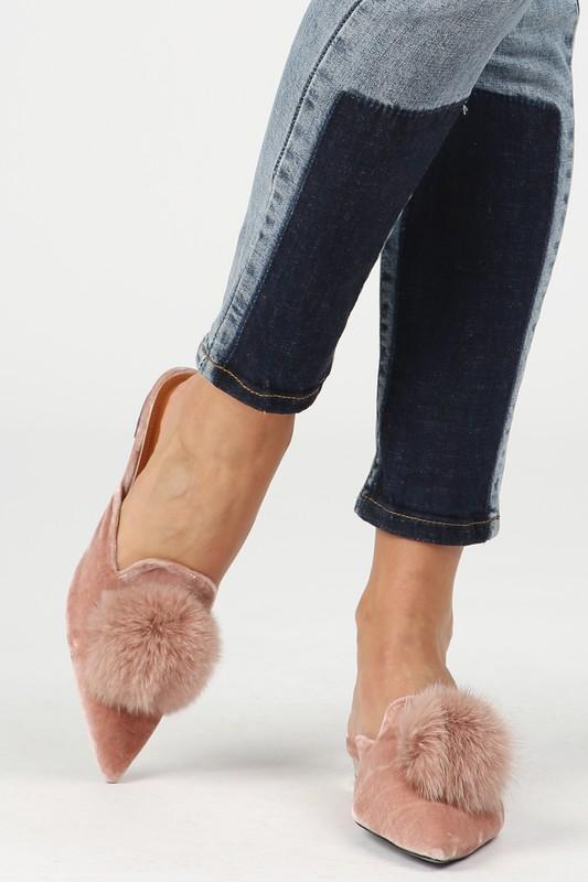 Pom Pom Velvet Loafer - Strong Confident You