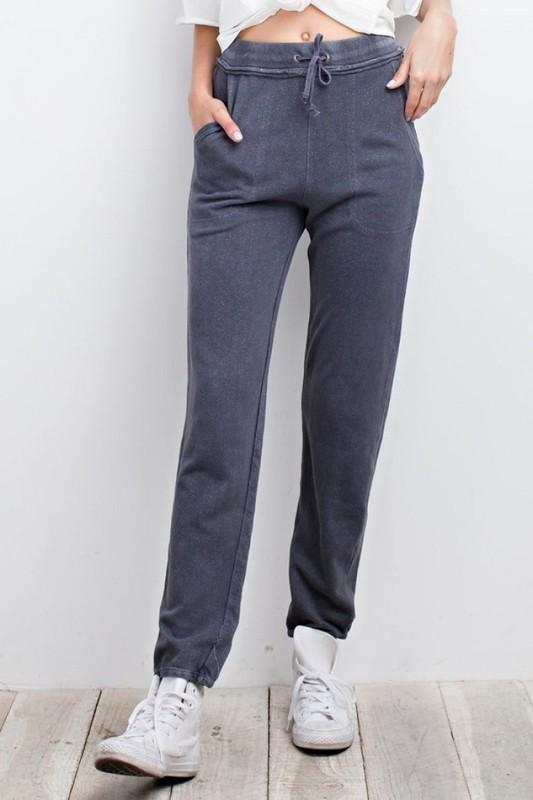 Holly Jogger Sweatpants - Dusty Blue - women's boutique clothing Strong Confident You