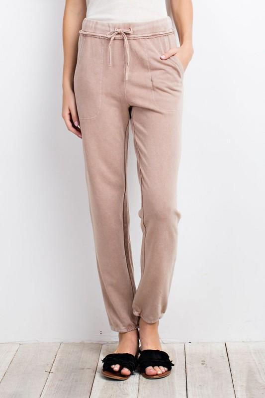 Holly Jogger Sweatpants - Dusty Blush - women's boutique clothing Strong Confident You