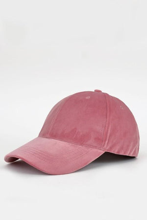Mia Fine Velvet Baseball Cap - Pink - Strong Confident You