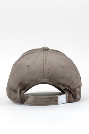 Mia Fine Velvet Baseball Cap - Gray - Strong Confident You