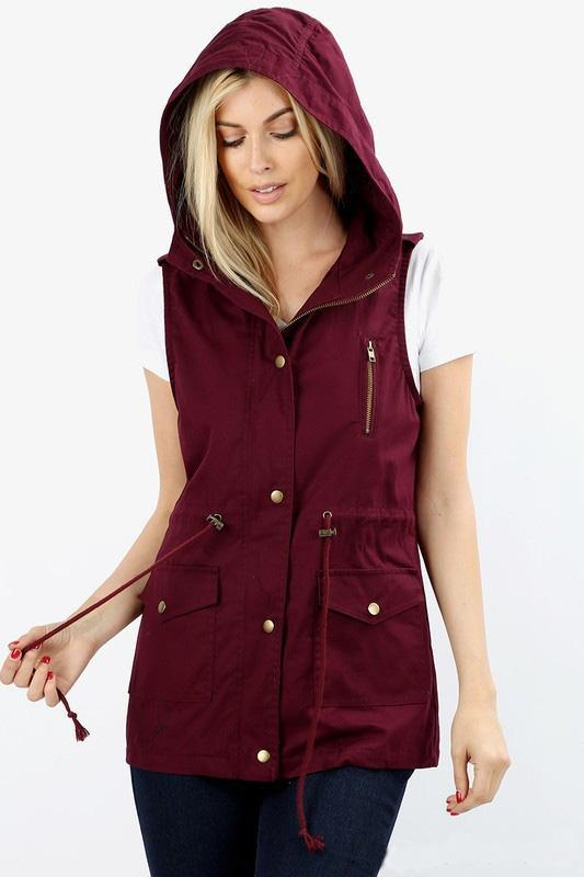 Jamie Vest - Burgundy - women's boutique clothing Strong Confident You