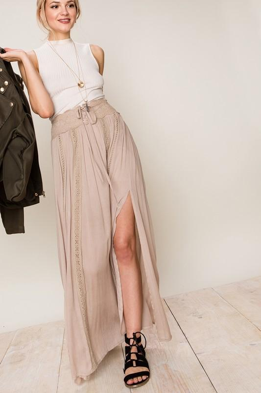 Lace Me Up Maxi Skirt - women's boutique clothing Strong Confident You