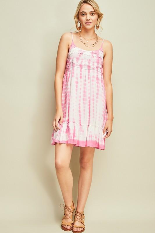 Savannah Tie Dye Dress - Pink - Strong Confident You