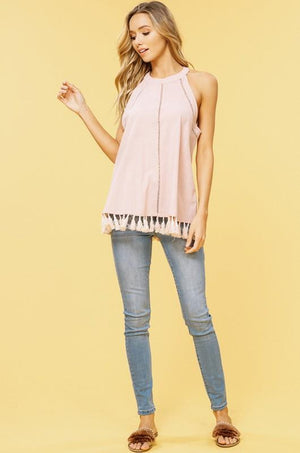 Lovely Tassle Top - women's boutique clothing Strong Confident You