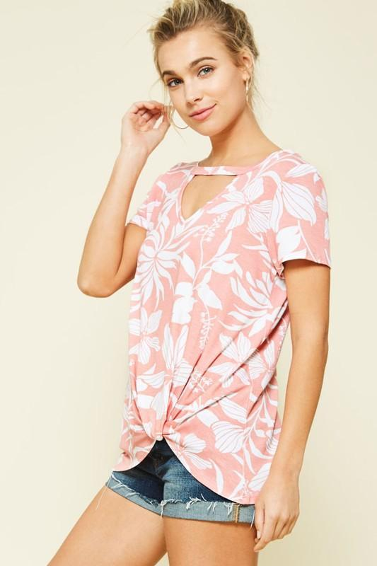 Ava Hibiscus Top - Pink - women's boutique clothing Strong Confident You