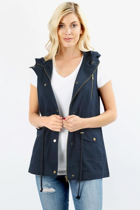 Jamie Vest - Navy - women's boutique clothing Strong Confident You