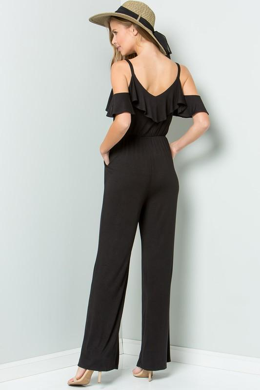 Gemma Ruffle Jumpsuit - women's boutique clothing Strong Confident You
