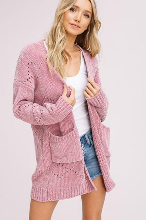 Olivia Chenille Cardigan - Strong Confident You