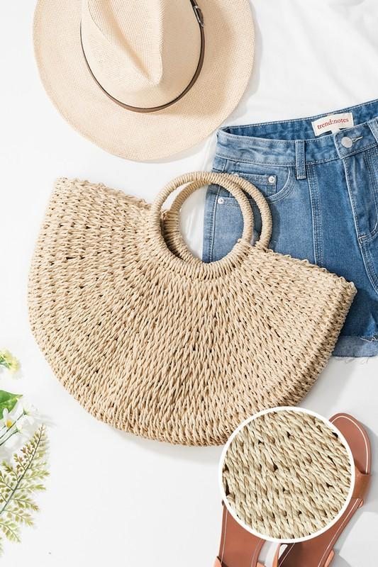 All Is Beachy Hand Made Straw Bag - Strong Confident You