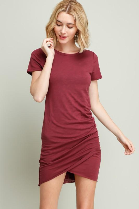 Ava Dress - Wine - women's boutique clothing Strong Confident You