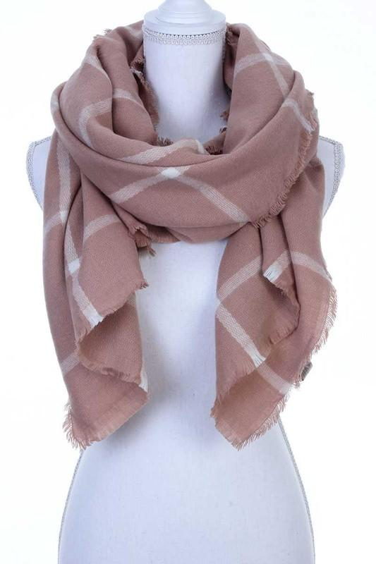 Alexandra Scarf - Mauve - women's boutique clothing Strong Confident You