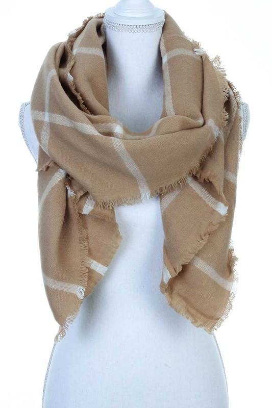 Alexandra Scarf - Camel - women's boutique clothing Strong Confident You