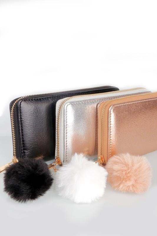 Pom Pom Metallic Wallet - Strong Confident You