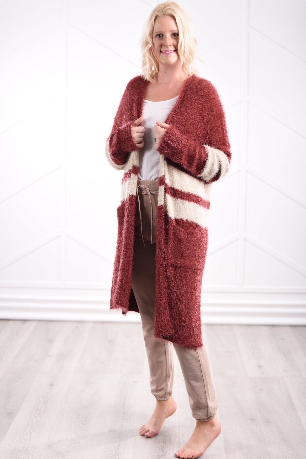 Georgia Fuzzy Cardigan - women's boutique clothing Strong Confident You