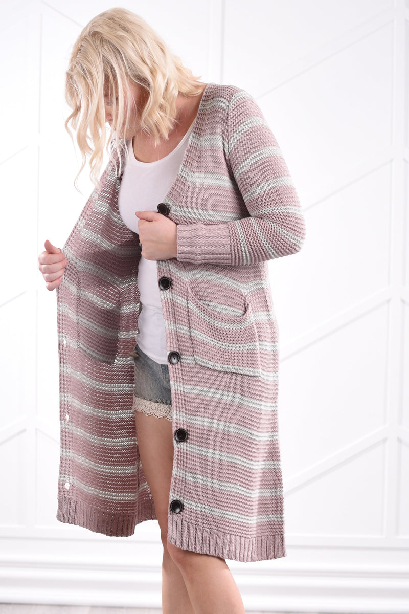 Maddy Striped Cardigan - women's boutique clothing Strong Confident You