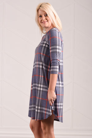 Fae Plaid Dress - women's boutique clothing Strong Confident You