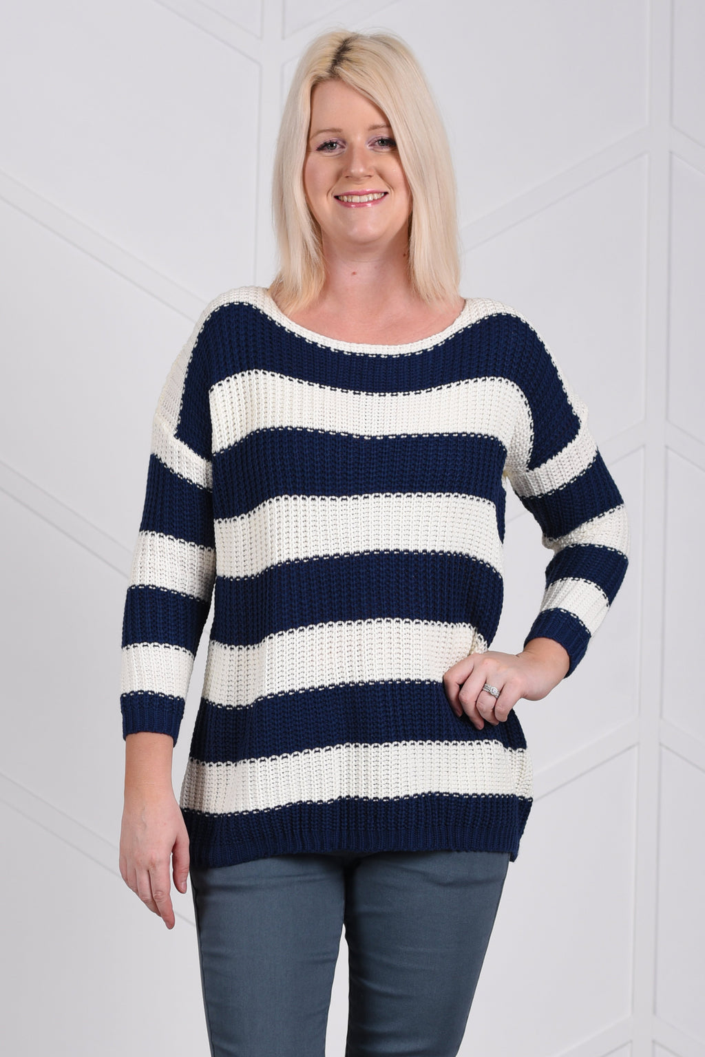 Mary Striped Sweater - women's boutique clothing Strong Confident You