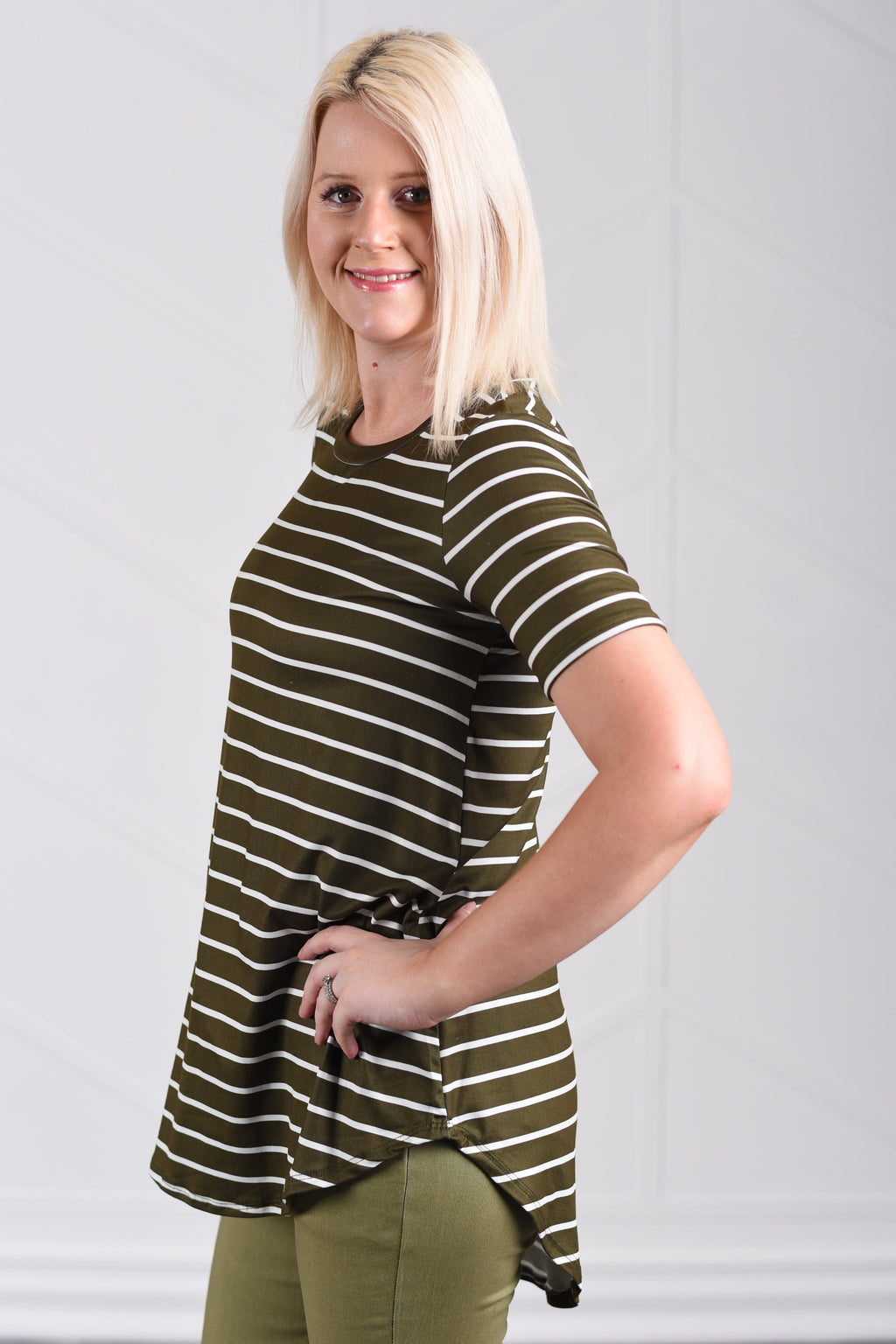 Jamie Striped Flowy Top - Strong Confident You