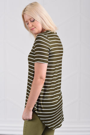 Jamie Striped Flowy Top - women's boutique clothing Strong Confident You