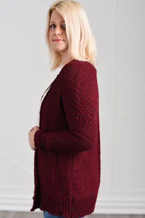 Gotta Have It Cardigan - Maroon - women's boutique clothing Strong Confident You