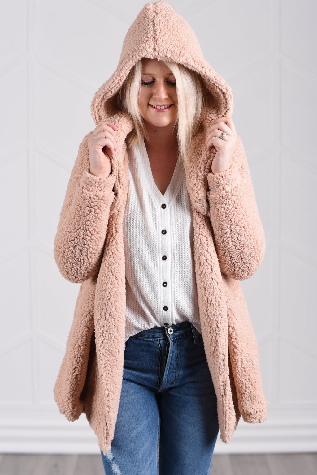 Fiona Fluffy Jacket - Strong Confident You
