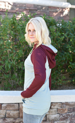 Jenny Pullover Hoodie - Sage - women's boutique clothing Strong Confident You