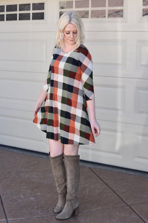 Clara Plaid Dress - women's boutique clothing Strong Confident You
