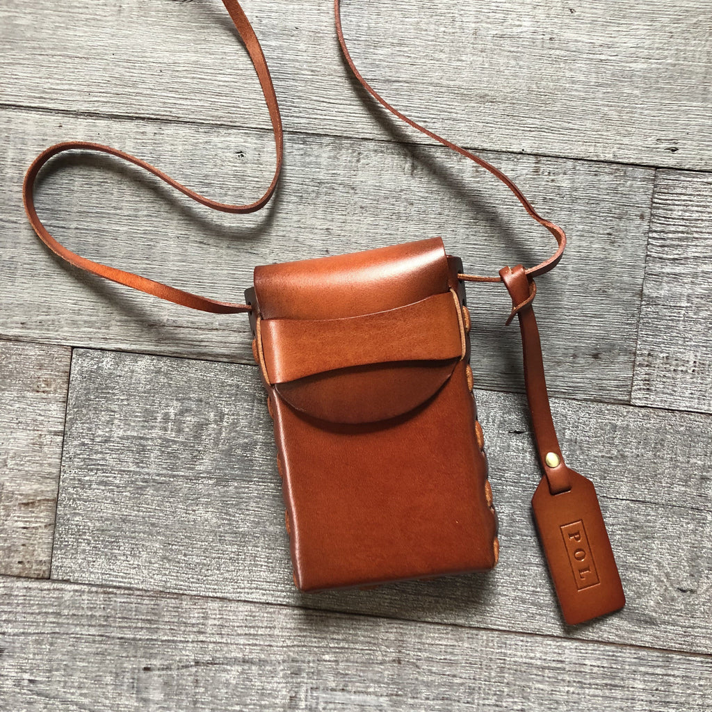 Burnt Amber Camera Pouch - Strong Confident You