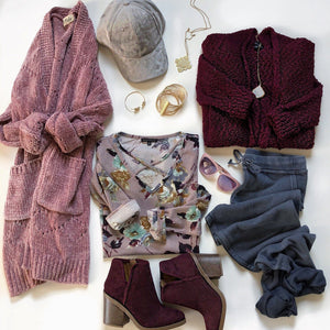 Gotta Have It Cardigan - Maroon - Strong Confident You