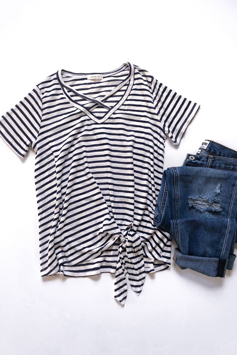 Cassandra Striped Top - Strong Confident You