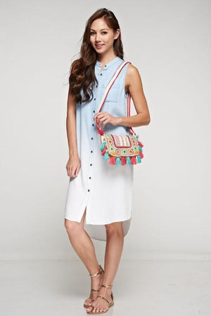 Color Me Mine Fold Over Crossbody Bag - Strong Confident You