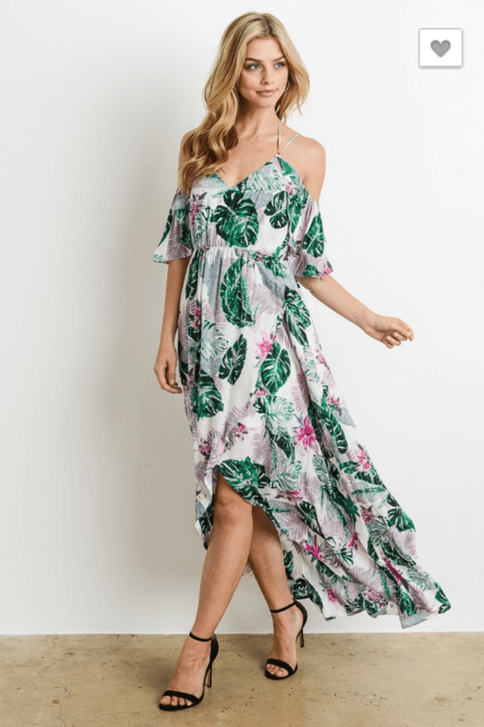 Tropical Goddess Hi Lo Dress - Strong Confident You