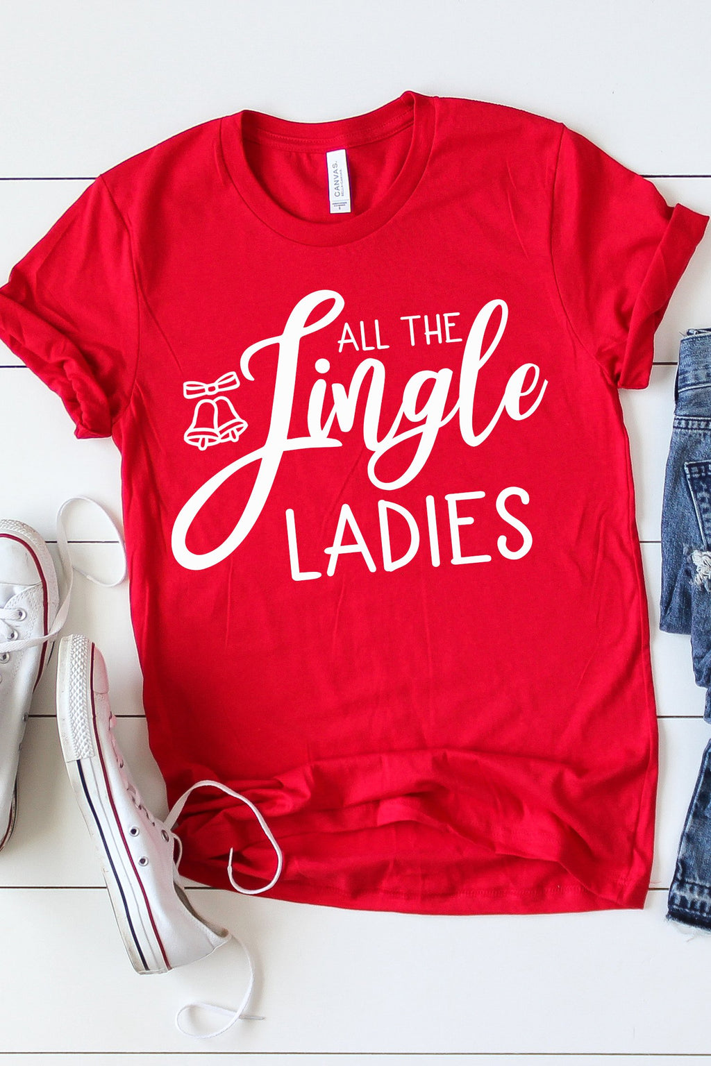 All The Jingle Ladies Tee - women's boutique clothing Strong Confident You