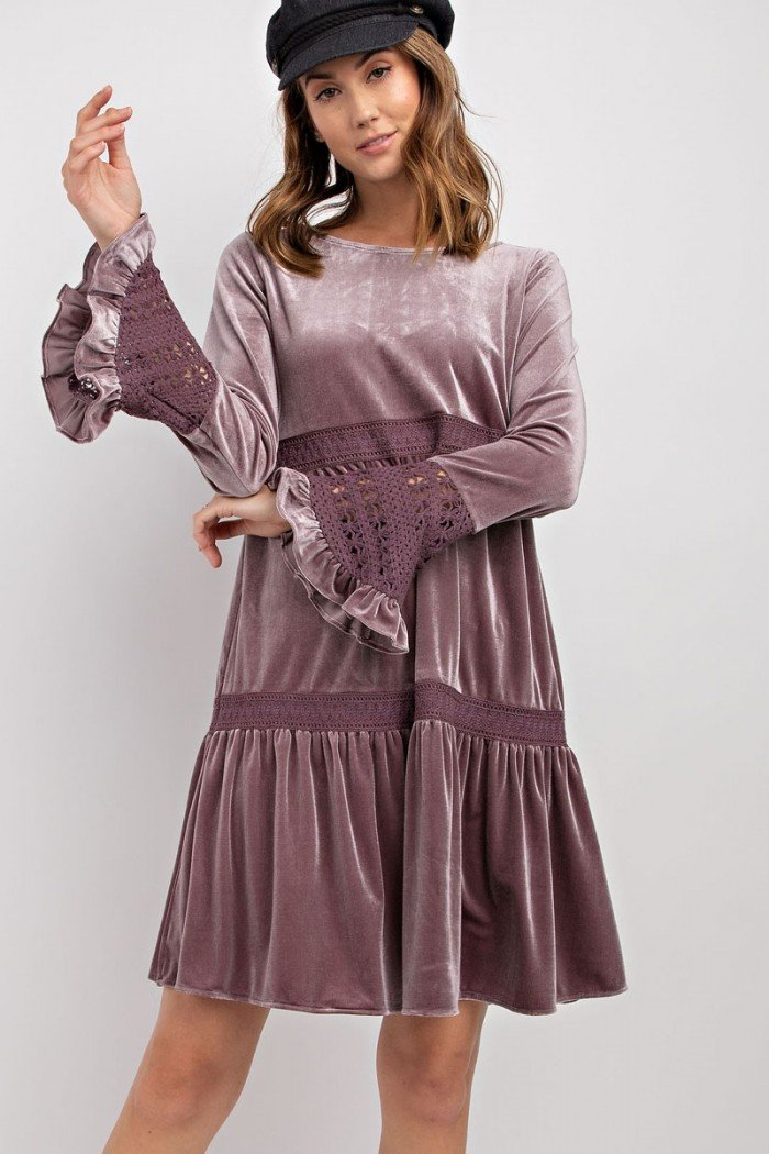 Isabelle Dress - Plum - women's boutique clothing Strong Confident You