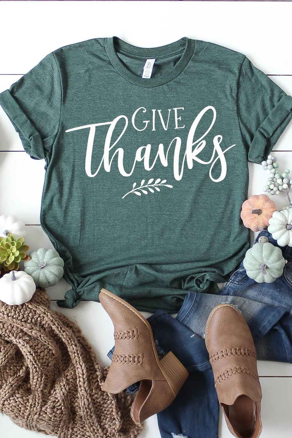 Give Thanks Tee - women's boutique clothing Strong Confident You