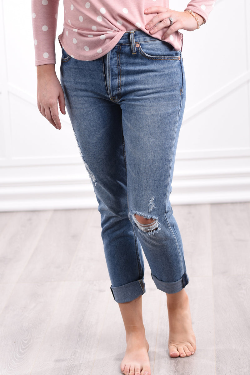 Holly Distressed Boyfriend Jeans