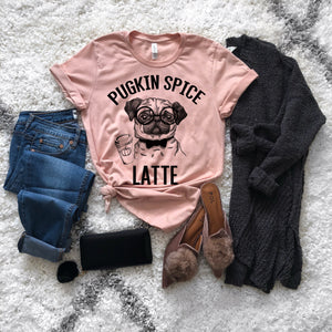 Pugkin Spice Latte Graphic Tee - Strong Confident You