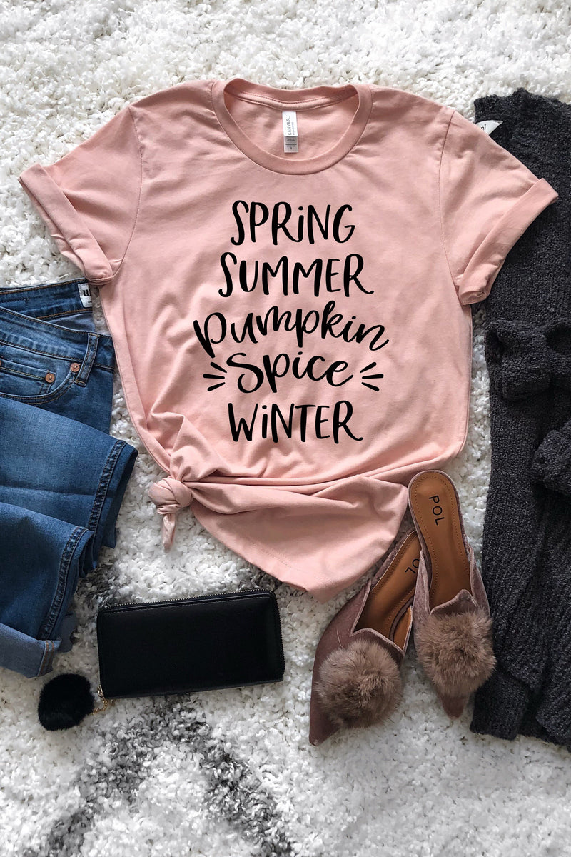 Spring Summer Pumpkin Spice Winter Graphic Tee