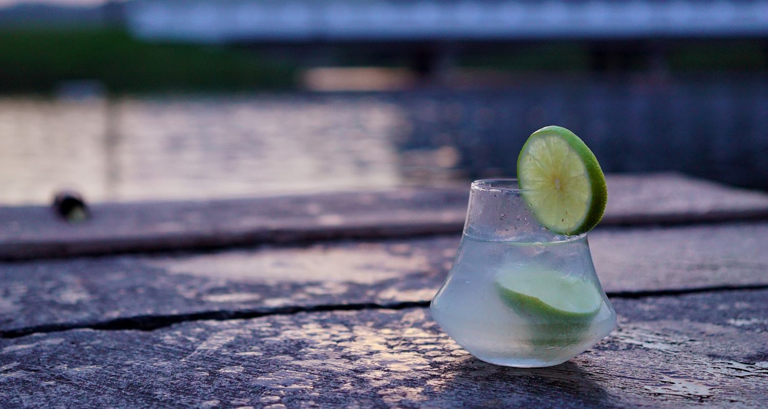 D&L Whisky Glass with Lime